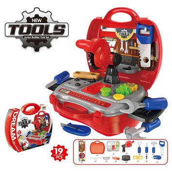 Tool Kit Box Suitcase  Toys Children Play House Simulation Kitchen Cooking Suit Toys for Boy  Tool Toys