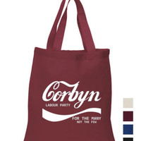 Corbyn Cotton Tote shopping Jeremy Labour party for the many not the few Bag | eBay