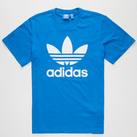 Adidas Originals Trefoil Mens T-Shirt Blue  In Sizes