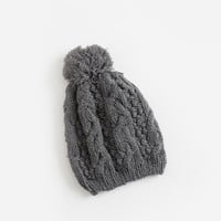 Pamela Grey Knitted Beanie