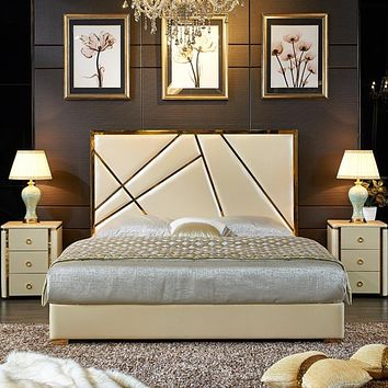 Shining Storage Soft Bed For Home Furniture