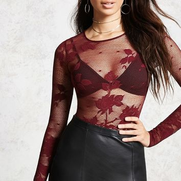 Sheer Mesh Bodysuit - Women - 2000194746 - Forever 21 Canada English