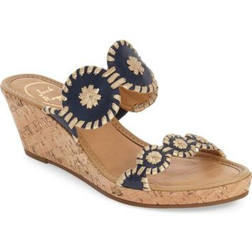 Jack Rogers 'Shelby' Whipstitched Wedge Sandal (Women) | Nordstrom
