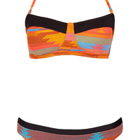Orange Aztec Bandeau Bikini - Swimwear - Clothing - Topshop USA