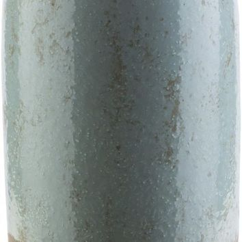 Leclair Cottage/Country Floor Vase Light Gray, Olive