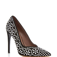 Desiree Pointed Pumps with Beaded Appliqué