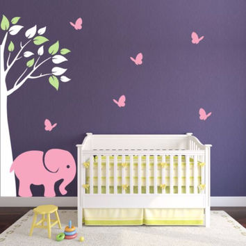 Nursery Corner Tree Decal Set For Boy Or Girl Room