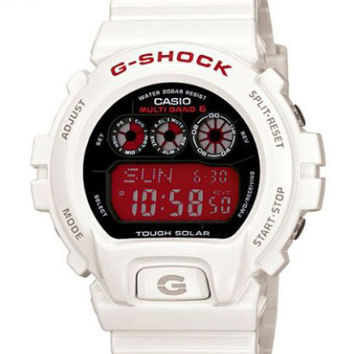 Casio GW6900F-7 G-Shock White Resin Atomic Solar Powered Alarm Watch