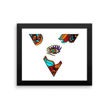 Framed 3rd Eye Mandala Pyramid Poster