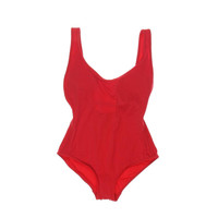 DKNY Swim Womens Maillot Padded Scoop Back One-Piece Swimsuit