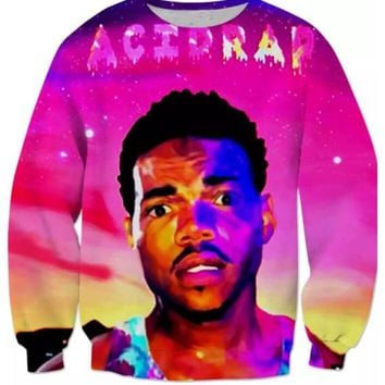 New Fashion Womens/Mens Acid Rap Chance The Rapper Funny 3D Print casual Long Sleeve Crewneck Sweatshirts WYXMB008