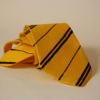 Harry Potter Tie Gryffindor Slytherin Ravenclaw Hufflepuff Hogwarts House Silk Red Green Yellow Blue Hand Painted