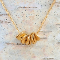 24K Vermeil Gold Discs Everyday Necklace