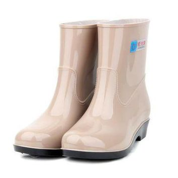 LMFIW1 Free shipping girl water shoes rain boots female Korean spring and autumn rubber boot