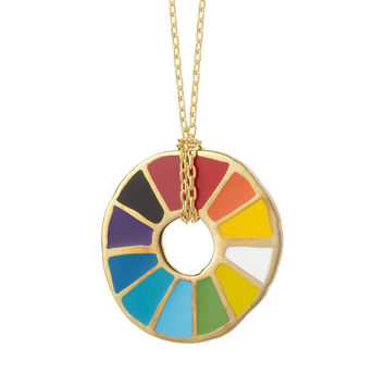 Color Wheel Pendant | handmade pendant