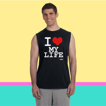 i love my life by wam Sleeveless T-shirt