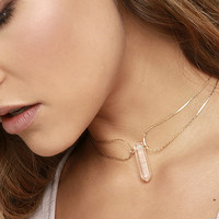 Tranloev Crystal Countessa Gold Choker Necklace