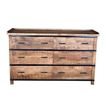 Modern Artisan Crafted Wood & Metal Sneha Buffet/Sideboard/Dresser
