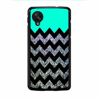 Glitter Print Chevron Nexus 5 Case
