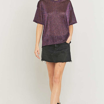 Light Before Dark Oversized Tinsel T-shirt - Urban Outfitters
