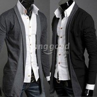 Fashion Cool Men's Long Sleeve Knitwear Cardigan Sweater Free Shipping!  - US$12.50