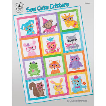 Baby Kids Quilt Pattern Book, Sew Cute Critters, Taylor Made Designs Patterns, Applique and Patchwork designs