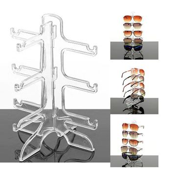 Sunglass Display Stand Holder Glasses Eyeglasses Plastic Frame Display Stand 3 Layers 3 Colors Eyeglasses Show Stand Rack Holder