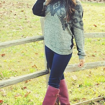 Glitter In The Air Sweater: Black/Gray | Hope's