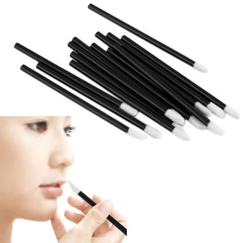 Set Disposable MakeUp Lip Brush Lipstick Gloss Wands Applicator Make Up Tool
