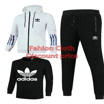 Adidas Jacket Sweater New Style Fashion Trend Three-Piece Suit For Women 18928 M-3XL Grey Black