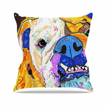 "Rebecca Fisher ""Tucker"" Bulldog Throw Pillow"
