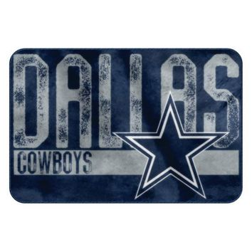 Dallas Cowboys NFL Worn Out Bath Mat