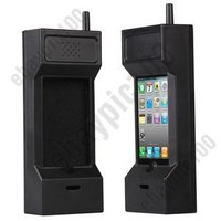 80's Retro Brick Mobile Phone Handset Case Cover Holder for iPhone 3G 4 4S 3GS