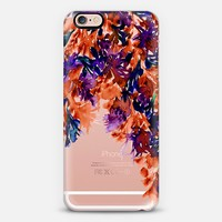 FLORAL CASCADE 5 - Watercolor Abstract Painting Deep Winter Eggplant Purple Indigo Navy Dark Blue Rust Orange Flowers Garden Petals Festive Transparent Chic Elegant Modern Fine Art Design iPhone 6s case by Ebi Emporium | Casetify