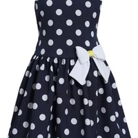 "Bonnie Jean Big Girls' ""Dotted Delight"" Dress"