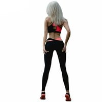 Women Fitness Elasticity Women Sets Patchwork Work out wear Suit Clothes Bra Top + Leggings Casual Twinset
