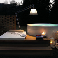 Freestanding methacrylate bathtub MINIPOOL Outdoor Collection by Kos by Zucchetti | design Ludovica+Roberto Palomba