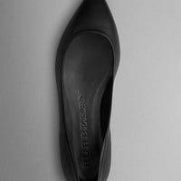Point-Toe Nappa Leather Ballerinas