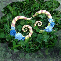 Victorian Climbing Rose ear guages made to order