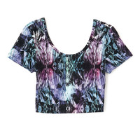 Crystal Print Crop Top