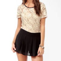 Metallic Lace Top