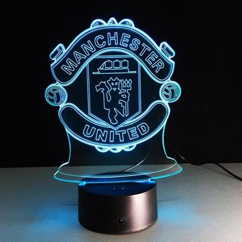 7Colors Changing Soccer Ball Light Football Club 3D Visual LED Night Light USB Novelty Table Lamp as Home Decor Bedside Lampara