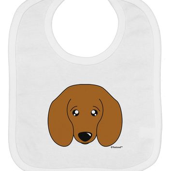 Cute Doxie Dachshund Dog Baby Bib by TooLoud