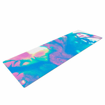"Ashley Rice ""AC2"" Teal Blue Yoga Mat"