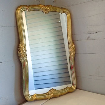 Mirror, Large, Oval, Rectangle, Wall Mirror, Framed Mirror, Home Decor, Gold, Vintage
