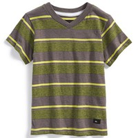 Boy's Quiksilver 'Mason' Stripe V-Neck T-Shirt