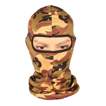 Camouflage Headwear Full Face Mask Outdoor Sports Face Hood for Outdoor Cycling Motorcycle Hunting