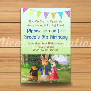 Peter Rabbit Inspired Design Invitation - Digital File