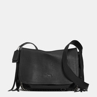 DAKOTAHfringe flap crossbodyin leather