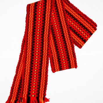 "Ukrainian belt ""Krayka"". Orange. Medium"
